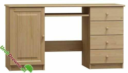 Biurko drewniane sosnowe 136 cm (nr kat 104)