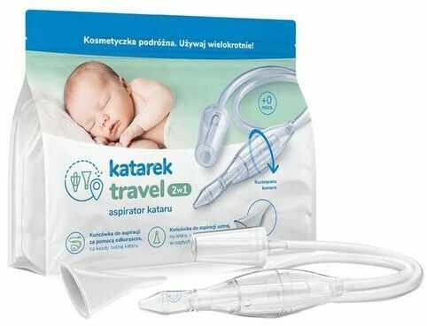 Katarek Travel 2 w 1 - Aspirator kataru do odkurzacza oraz ustny pomocny w nagłych wypadkach