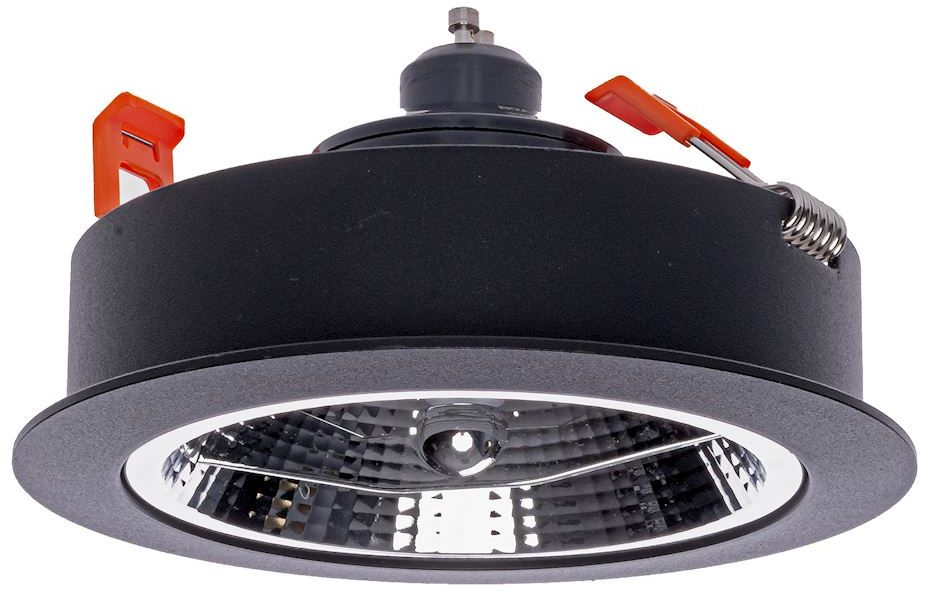 Milagro REDONDO BLACK ML5696 oprawa do wbudowania aluminium czarny 1xAR111 GU10 13,5cm
