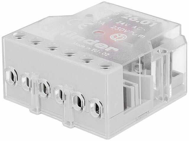 Przekaźnik instalacyjny FINDER bistabilny SPST-NO Ucewki:24VAC 10A