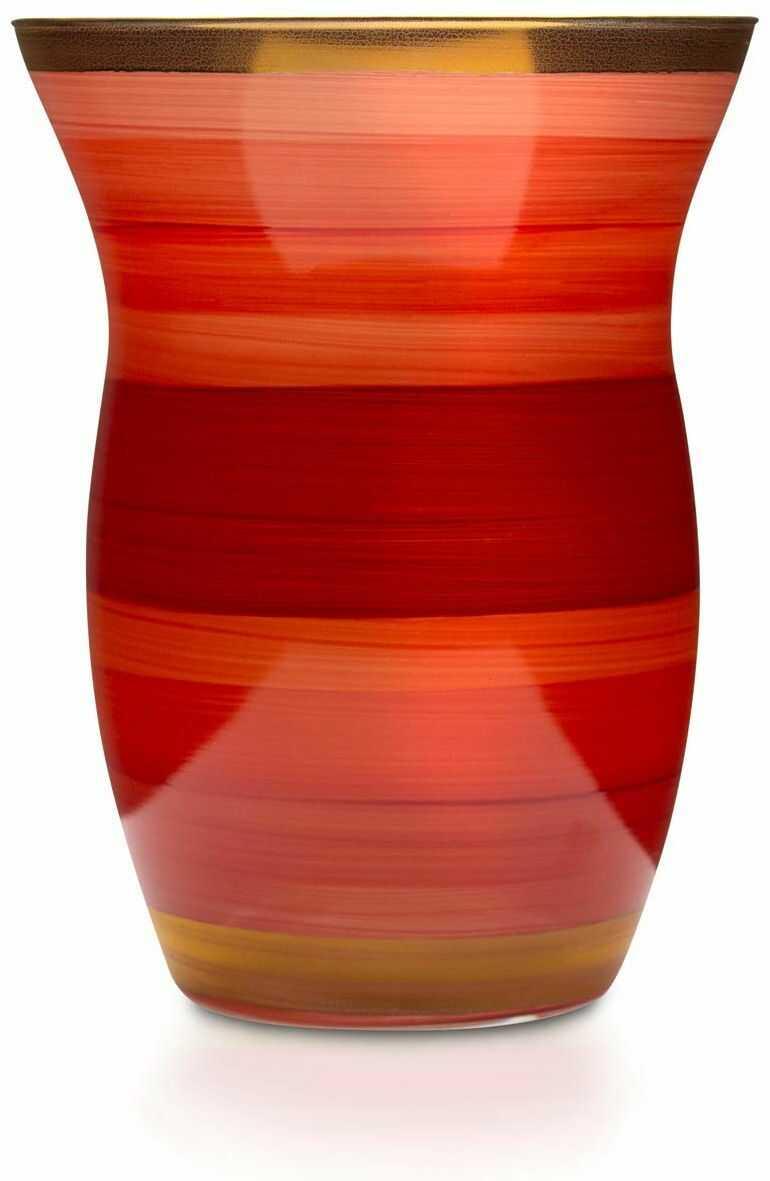 Angela Neue Wiener Werkstätte Monika wazony na pomidory z kolorowego szkła, czerwony, 13 cm
