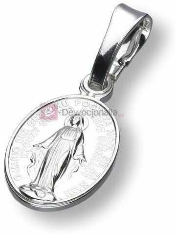 Medalik srebrny - M.B Niepokalana, próba 925, 1,1g