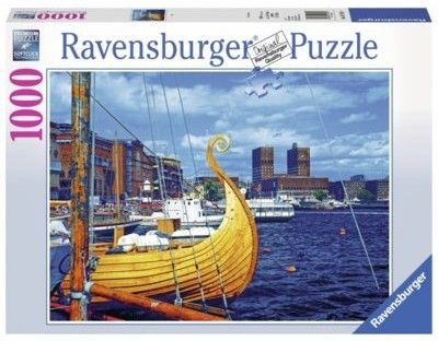 Puzzle Ravensburger 1000 - Oslo, Norwegia, Oslo, Norway