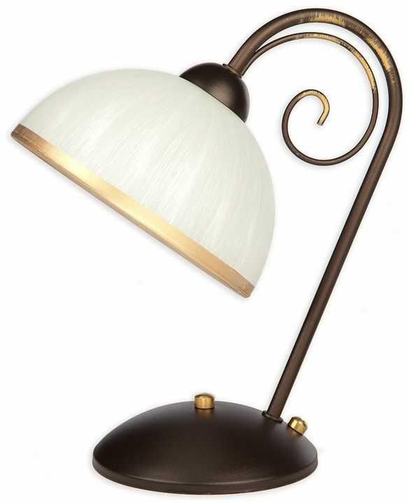 Meda lampka stołowa 1 pł. / rdza wenge + zdobienie złotem