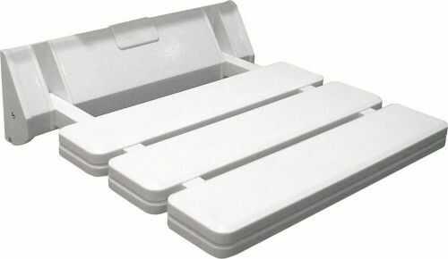 Siedzisko prysznicowe składane 32x33 cm/ 130 kg , białe plastik