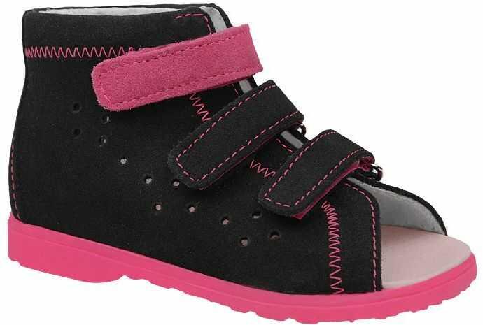 Sandałki Profilaktyczne Ortopedyczne Buty DAWID 1041 Czarne CZR
