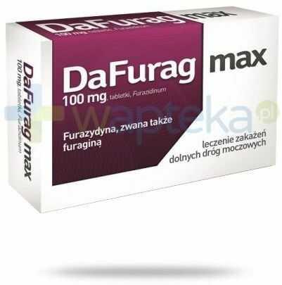 DaFurag Max 100mg leczenie zakażeń dróg moczowych 15 tabletek