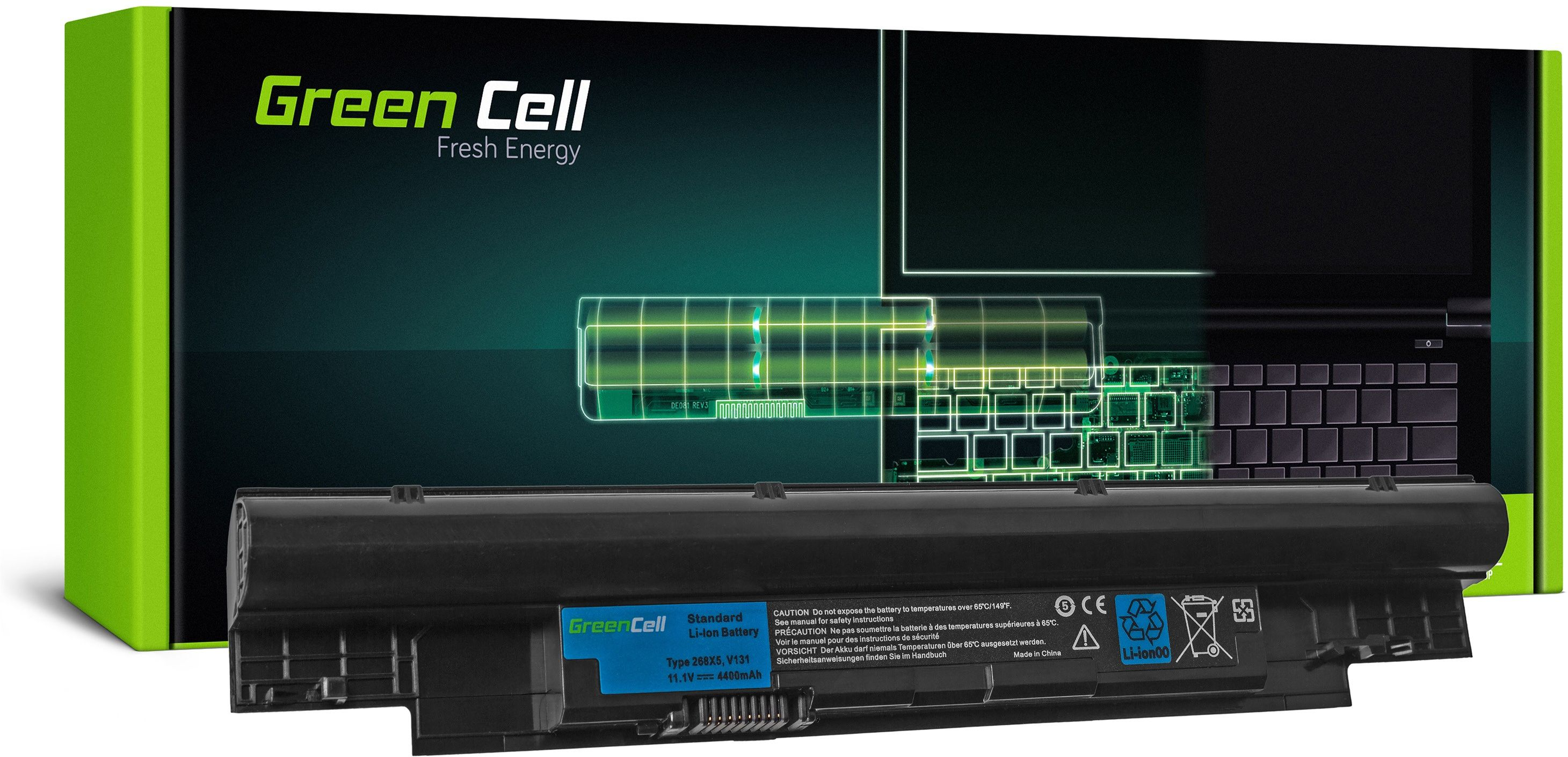 Bateria Green Cell 268X5 do Dell Latitude 3330 Vostro V131