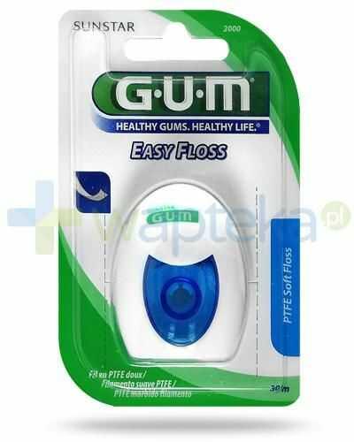 GUM Easy Floss PTFE Soft płaska nić dentystyczna teflonowa 30 m