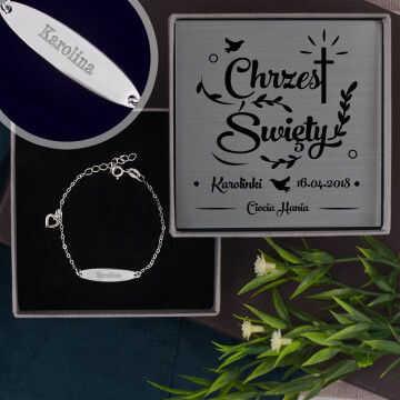 Chrzest - srebrna bransoletka dla dziecka