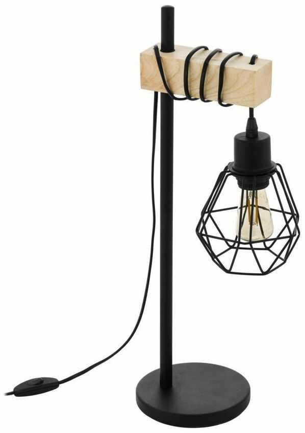 Lampa stołowa TOWNSHEND czarna 1 x E27 EGLO