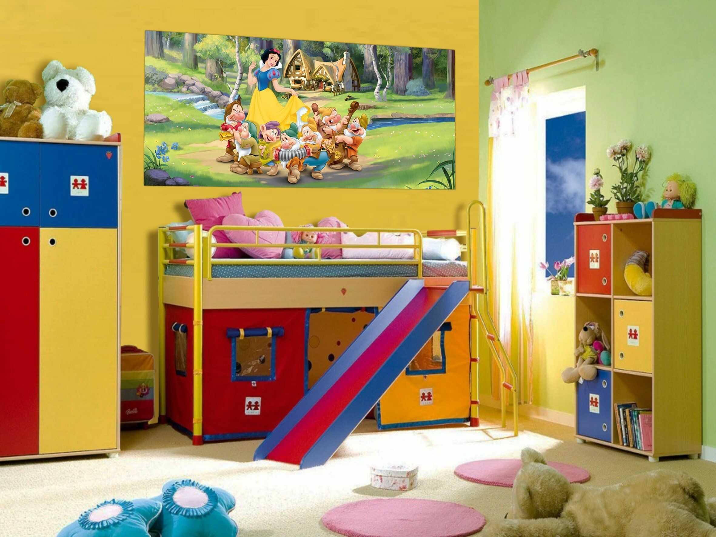 """Disney"""" Śnieżnobiała księżniczka zdjęcie mural tapeta do pokoju dziecięcego, papier wielokolorowy, 0,1 x 202 x 90 cm"""