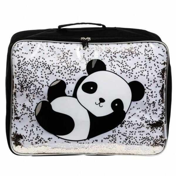 A Little Lovely Company - A Little Lovely Company - Lśniąca Walizeczka Glitter Panda