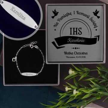 Komunia - srebrna bransoletka dla dziecka