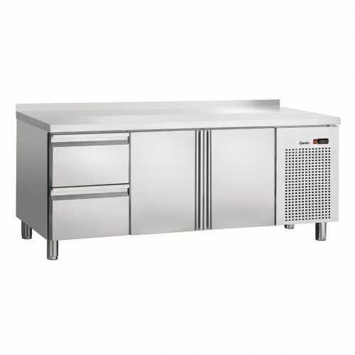 Stół Chłodniczy S2T2-150MA 2-Drzwiowy z 2 Szufladami i Rantem