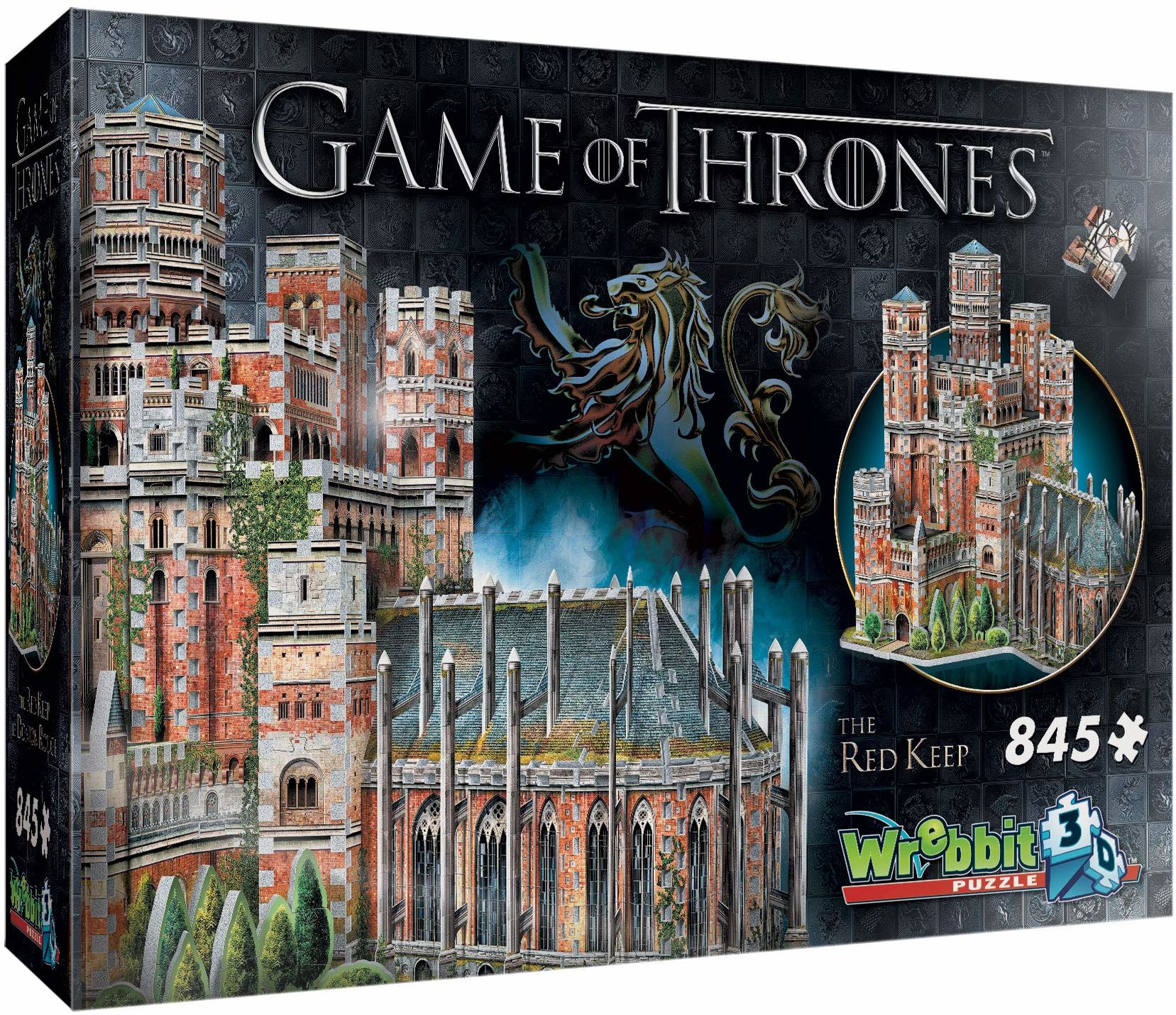 Roter Bergfried/The Red Keep - Game of Thrones. Puzzle 845 Teile: 3D-PUZZLE