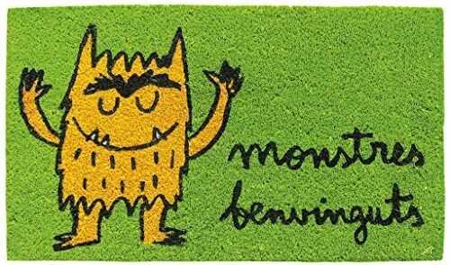 LAROOM 14085  wycieraczka Monstres Benvinguts, zielona