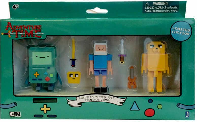Adventure Time - Zestaw 3 figurek Finn, Jake i Bmo 7cm 14609