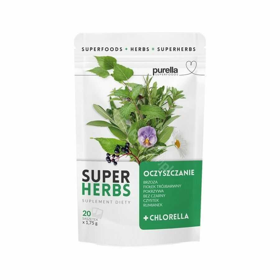 Purella SuperHerbs mieszanka ziół na oczyszczanie 20 saszetek