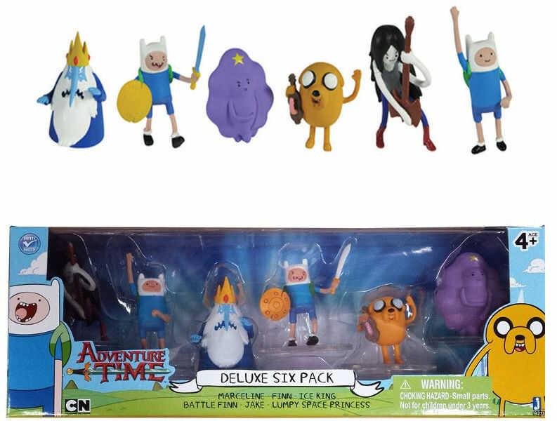 Adventure Time - Zestaw 6 figurek Deluxe 6cm 14273