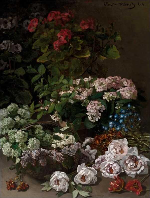Spring flowers, claude monet - plakat wymiar do wyboru: 40x50 cm