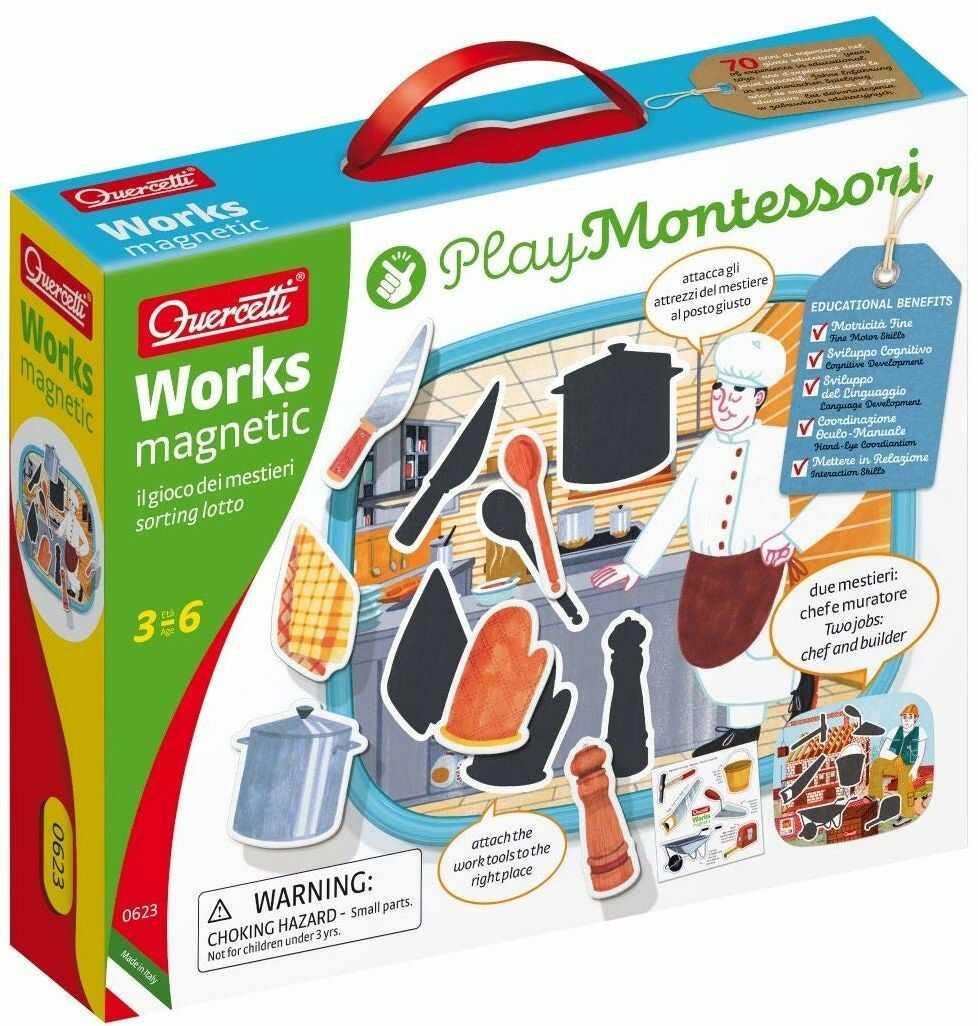 QUERCETTI 0623 Play Montessori Works gra magnetyczna