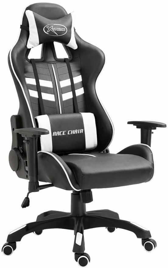 Biały fotel dla graczy rozkładany - Gamix