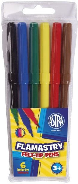 Flamastry 6 kolorów Astra 91204