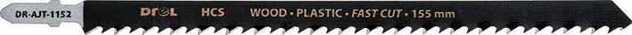 """Brzeszczoty do wyrzynarek z chwytem typu """"T"""",drewno/plastik, długość pracy 155mm,5szt"""