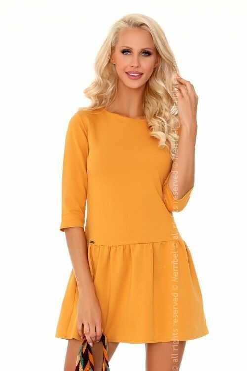 Marhix Mustard sukienka