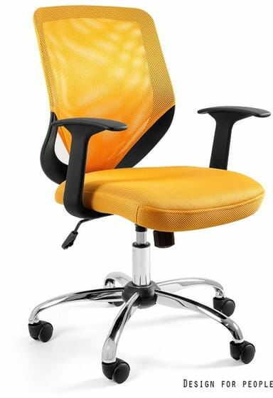 Fotel Biurowy Unique MOBI żółty
