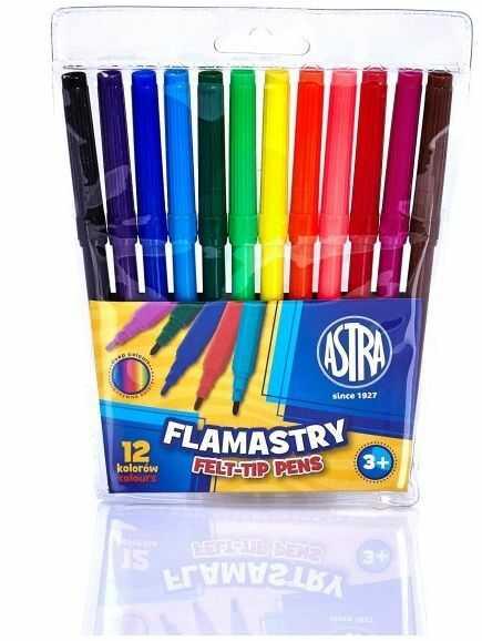 Flamastry 12 kolorów Astra 230228