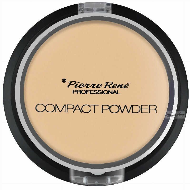 Pierre René - Compact Powder - Puder matujący z jojobą i minerałami - 03 - TRANSPARENT