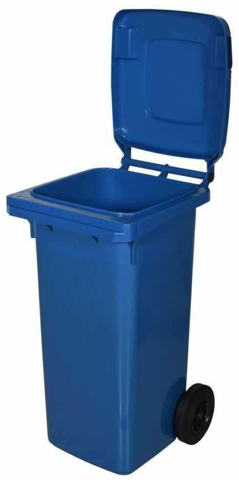 Kosz na śmieci 120 l niebieski na odpady papierowe