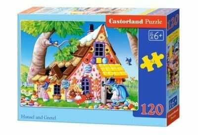 Puzzle Castor 120 - Jaś i Małgosia, Hansel and Gretel