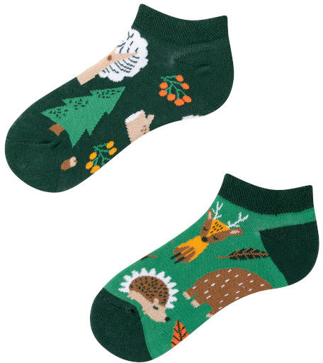 Stopki, Forest Animals Kids Low, Todo Socks, Leśne zwierzaki, Kolorowe Dziecięce