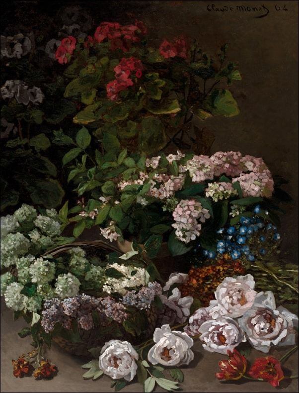 Spring flowers, claude monet - plakat wymiar do wyboru: 60x80 cm