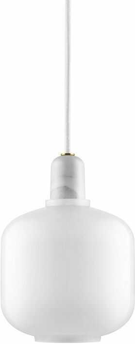 Lampa Amp Biały Marmur Okragła