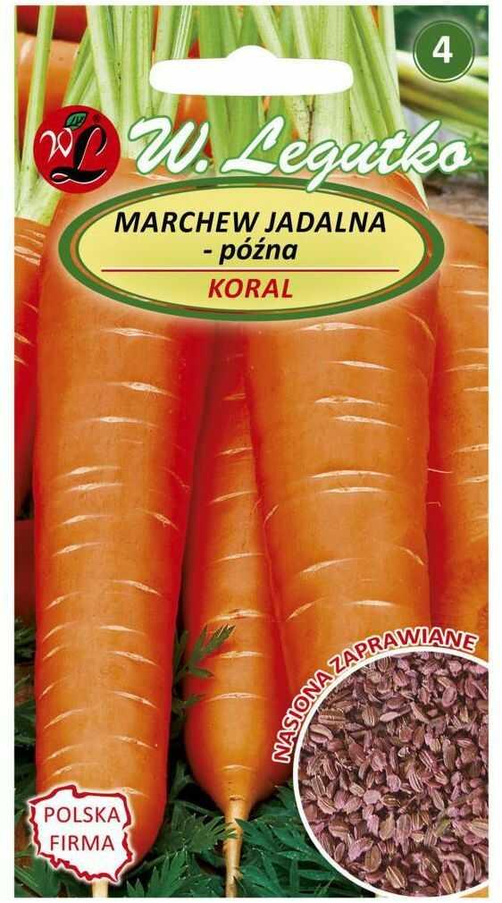 Marchew KORAL nasiona zaprawiane 5 g W. LEGUTKO