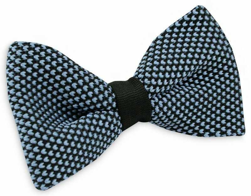 Niebiesko-Czarna Mucha Typu Knit - Alties MUALTS0175