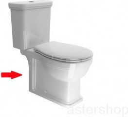 CLASSIC Miska WC Kombi stojąca, odpływ pionowy/poziomy 37x42x70 cm 871711