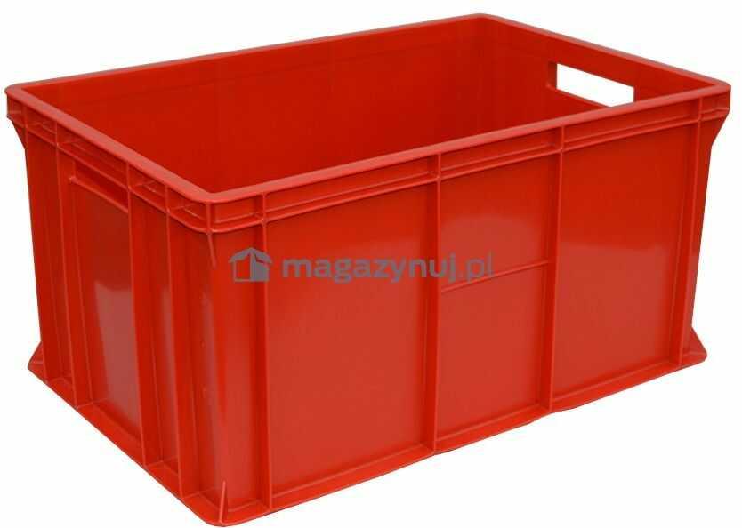 Pojemnik transportowy EURO 300, wym. 600 x 400 x 300 mm (Kolor czerwony)