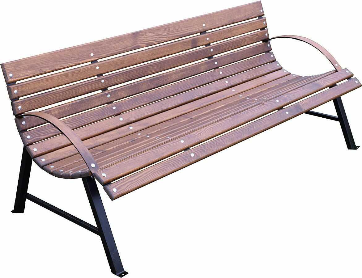 Drewniana ławka ogrodowa Wagris 190 cm - orzech