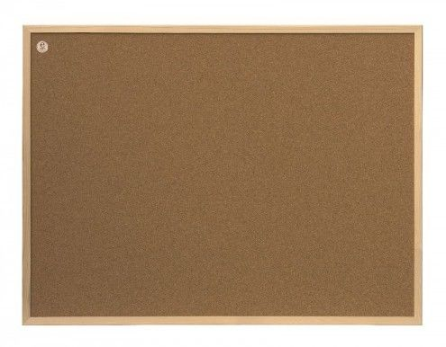 Tablica korkowa ecoBoards w ramie drewnianej 120 x 80 cm