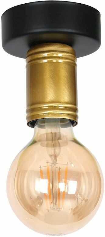 Milagro DYLAN MLP4805 plafon lampa sufitowa czarny mosiądz styl industrialny 1xE27 12cm