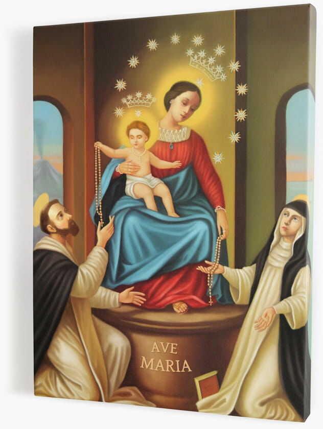 Matka Boża Pompejańska, obraz religijny na płótnie