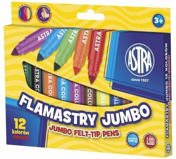 Flamastry Jumbo 12 kolorów Astra 230419