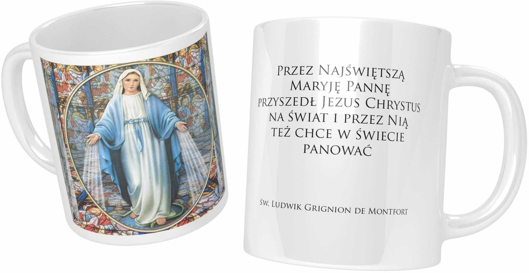 Kubek ceramiczny, Matka Boża Niepokalana