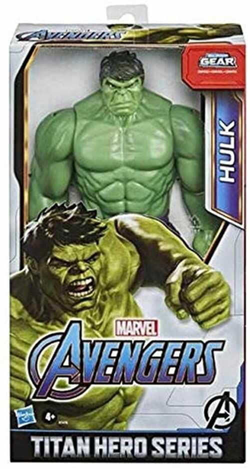 Figurka Hulk Deluxe z serii Marvel Avengers Titan Hero Blast Gear, zabawka w skali 30 cm, inspirowana komiksami Marvela, dla dzieci w wieku od 4 lat