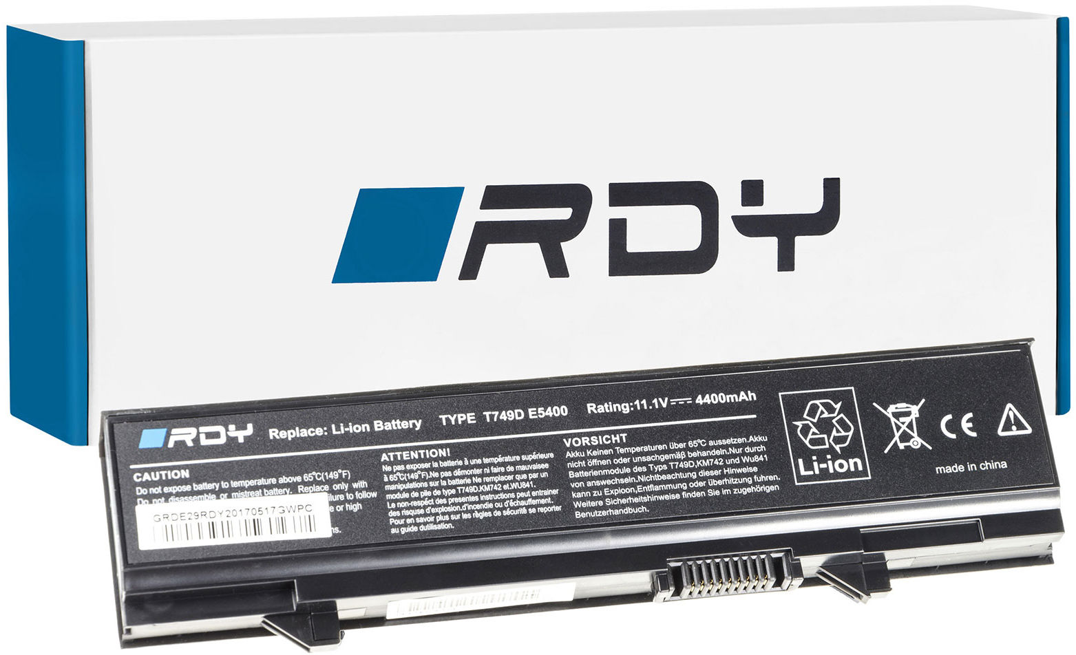 Bateria RDY KM742 KM668 do Dell Latitude E5400 E5410 E5500 E5510